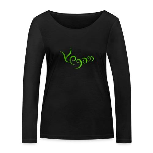 Vegaani käsinkirjoitettu design - Stanley & Stellan naisten pitkähihainen luomupaita