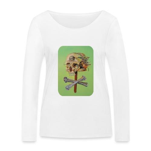 oil painting of skull and bones - Vrouwen bio shirt met lange mouwen van Stanley & Stella