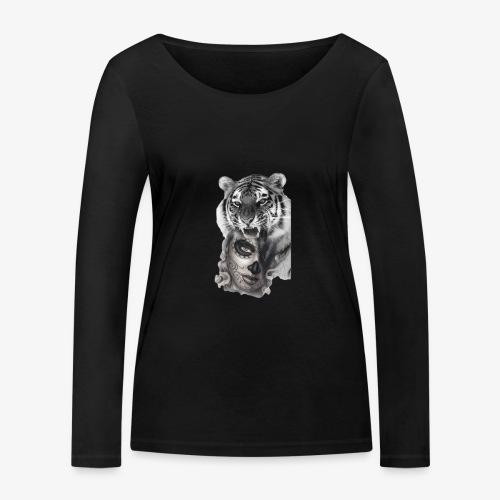 catriger - Camiseta de manga larga ecológica mujer de Stanley & Stella
