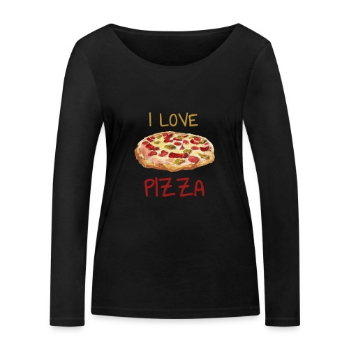 I love Pizza - Frauen Bio-Langarmshirt von Stanley & Stella