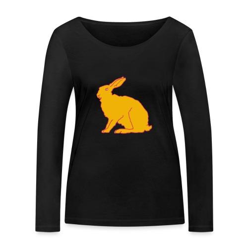 Gelber Hase - Frauen Bio-Langarmshirt von Stanley & Stella