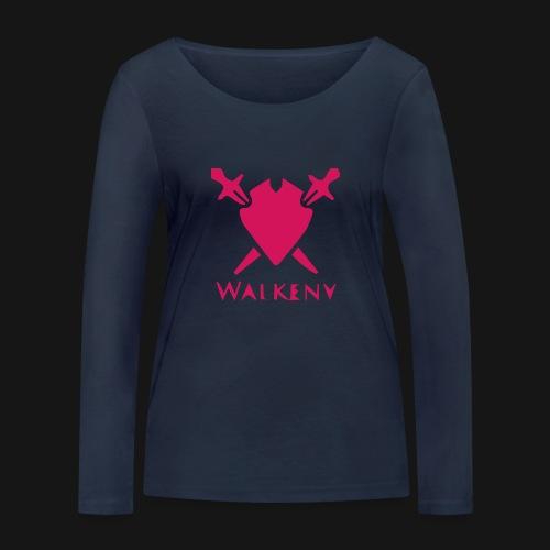 Das Walkeny Logo mit dem Schwert in PINK! - Frauen Bio-Langarmshirt von Stanley & Stella