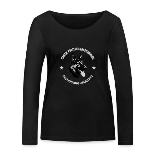 Svendborg PH hvid skrift - Økologisk Stanley & Stella langærmet T-shirt til damer