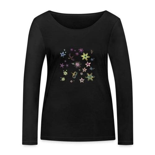 flowers and butterflies - Maglietta a manica lunga ecologica da donna di Stanley & Stella