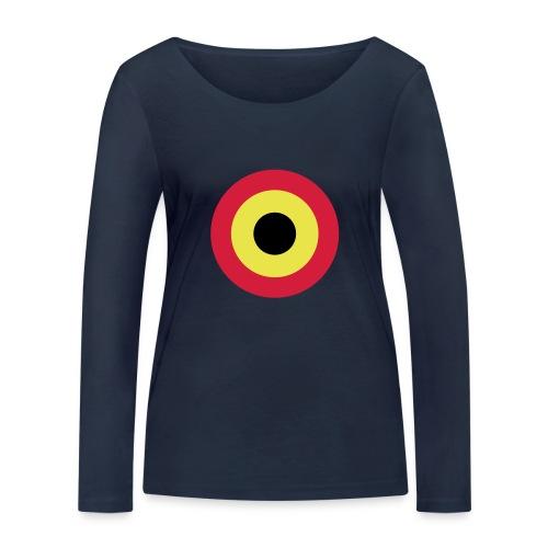 Couleurs Belgique - Belgium - Belgie - T-shirt manches longues bio Stanley & Stella Femme