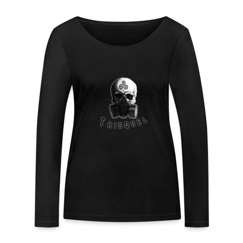 Trisquel Negro - Camiseta de manga larga ecológica mujer de Stanley & Stella