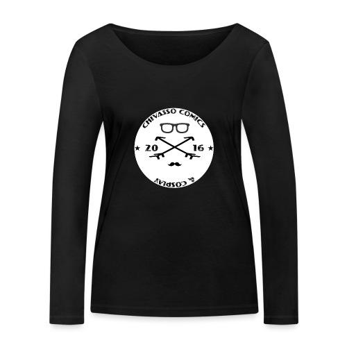 T-SHIRT - Chivasso Comics and Cosplay - Maglietta a manica lunga ecologica da donna di Stanley & Stella