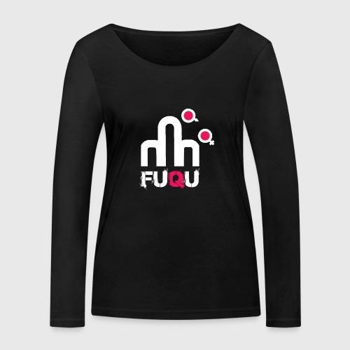 T-shirt FUQU logo colore bianco - Maglietta a manica lunga ecologica da donna di Stanley & Stella