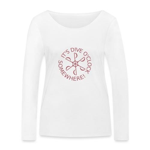 Dive o clock Dark Pink - Women's Organic Longsleeve Shirt by Stanley & Stella