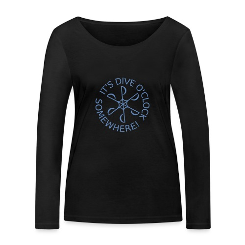 Dive o clock Light Blue - Women's Organic Longsleeve Shirt by Stanley & Stella