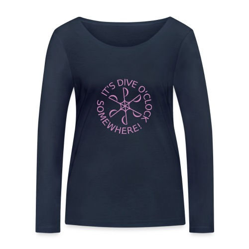 diveoclocklogodlpink png - Women's Organic Longsleeve Shirt by Stanley & Stella