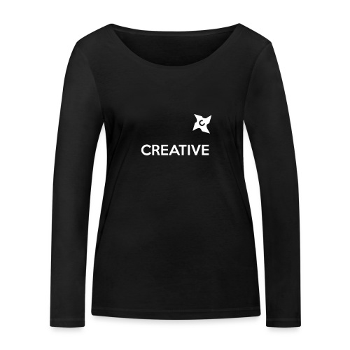 Creative simple black and white shirt - Økologisk Stanley & Stella langærmet T-shirt til damer