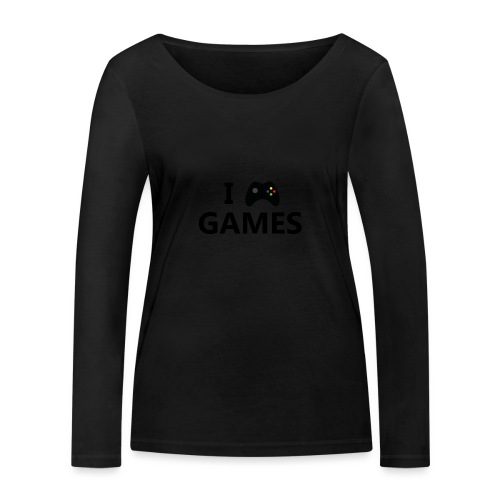 I Love Games 3 - Camiseta de manga larga ecológica mujer de Stanley & Stella