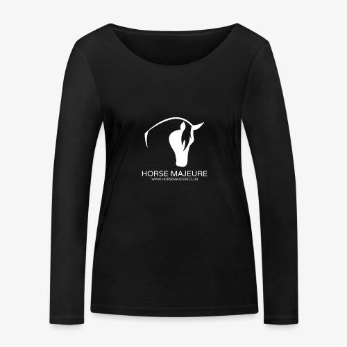 Horse Majeure Logo / Valkoinen - Stanley & Stellan naisten pitkähihainen luomupaita