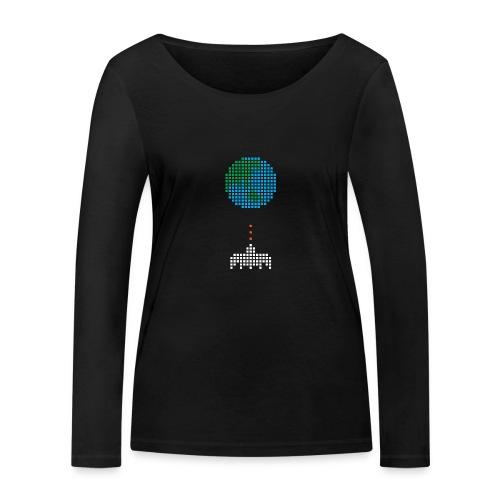 Earth Invaders - Frauen Bio-Langarmshirt von Stanley & Stella