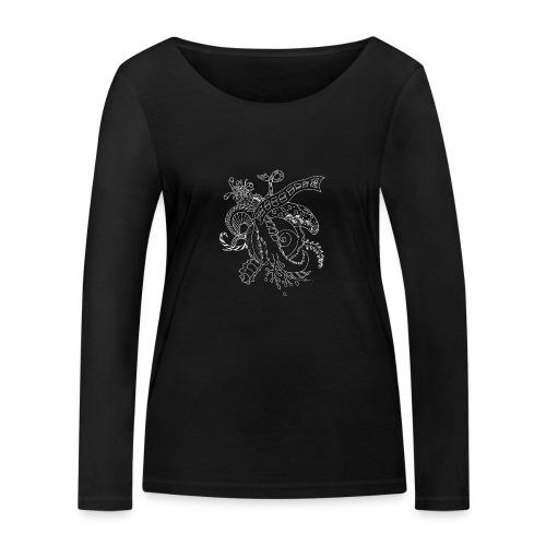 Fantasy hvid scribblesirii - Økologisk Stanley & Stella langærmet T-shirt til damer