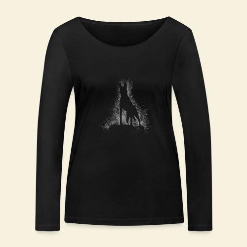 Dog Silhouette - Frauen Bio-Langarmshirt von Stanley & Stella
