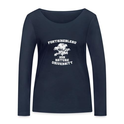 Fontainebleau Nature University (Blanc) - T-shirt manches longues bio Stanley & Stella Femme
