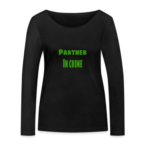 Partner in crime green - Ekologisk långärmad T-shirt dam från Stanley & Stella