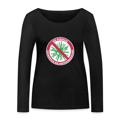 nie panikuje corona-virus - Ekologiczna koszulka damska z długim rękawem Stanley & Stella