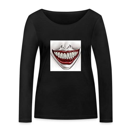 Smile Maske - Frauen Bio-Langarmshirt von Stanley & Stella