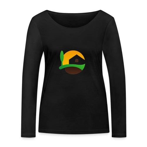 Neues Logo ohne Schriftzug - Frauen Bio-Langarmshirt von Stanley & Stella