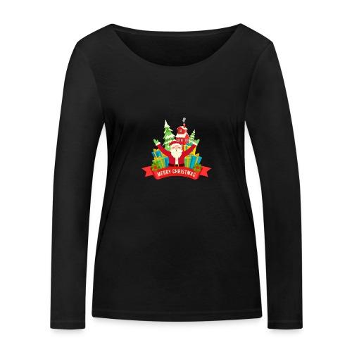 Santa Claus - Camiseta de manga larga ecológica mujer de Stanley & Stella