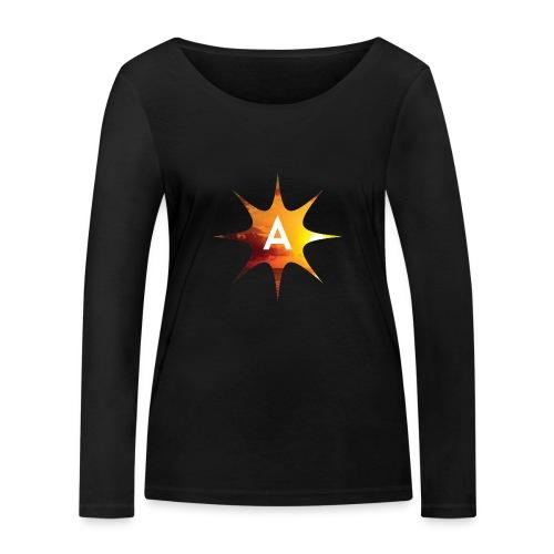 Sunshine Hoodie White - Ekologiczna koszulka damska z długim rękawem Stanley & Stella