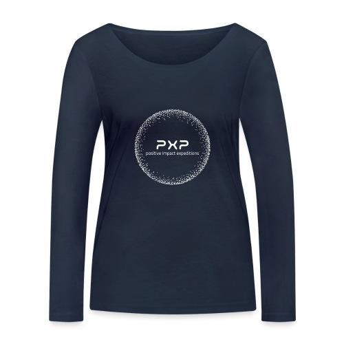 white logo transparent 2x - Women's Organic Longsleeve Shirt by Stanley & Stella