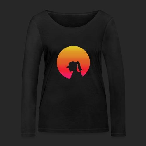 Gradient Girl - Women's Organic Longsleeve Shirt by Stanley & Stella