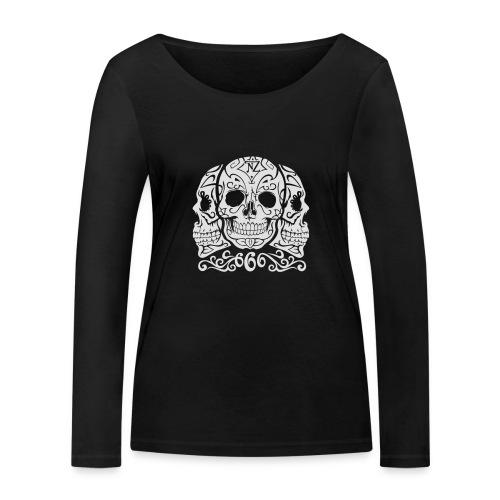Skull Dia de los muertos - T-shirt manches longues bio Stanley & Stella Femme