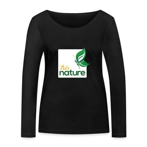 carre_pap_vert_tsh - T-shirt manches longues bio Stanley & Stella Femme