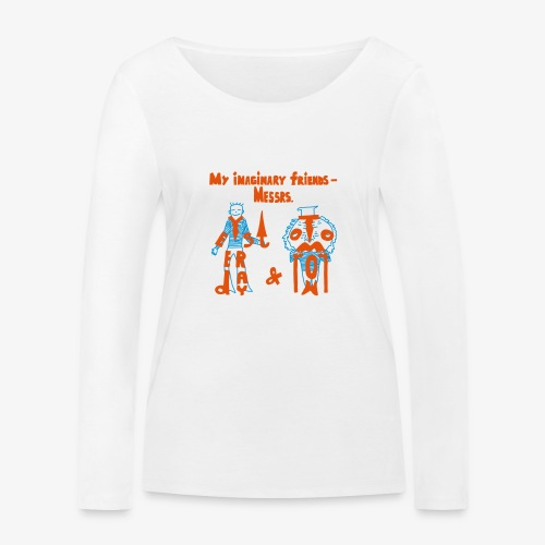 My imaginary friends T-shirt - Frauen Bio-Langarmshirt von Stanley & Stella