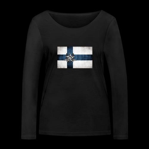 Suomen lippu - Stanley & Stellan naisten pitkähihainen luomupaita