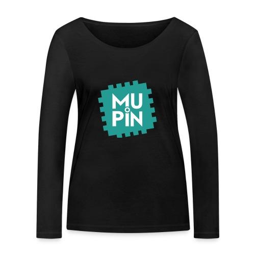 Logo Mupin quadrato - Maglietta a manica lunga ecologica da donna di Stanley & Stella