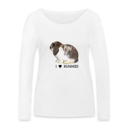 I Love Bunnies Luppis - Stanley & Stellan naisten pitkähihainen luomupaita