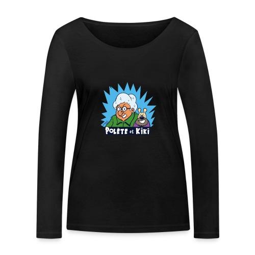 tshirt polete et kiki - T-shirt manches longues bio Stanley & Stella Femme