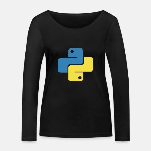 Python Pixelart - Women's Organic Longsleeve Shirt by Stanley & Stella