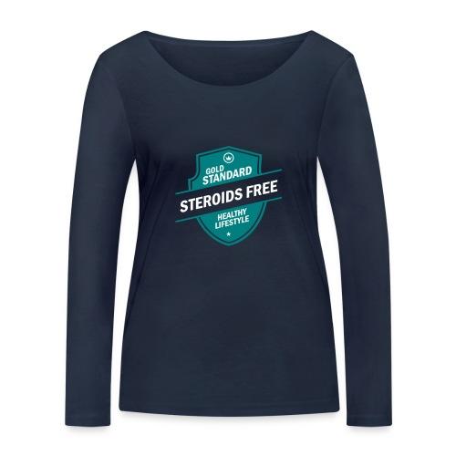 GoldStd-SteroidsFree-33 - Women's Organic Longsleeve Shirt by Stanley & Stella