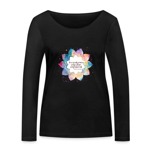 Citation de Nelson Mandela - T-shirt manches longues bio Stanley & Stella Femme