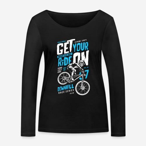 Radfahrer Biker - Frauen Bio-Langarmshirt von Stanley & Stella