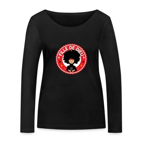 fille de Dieu rouge - T-shirt manches longues bio Stanley & Stella Femme