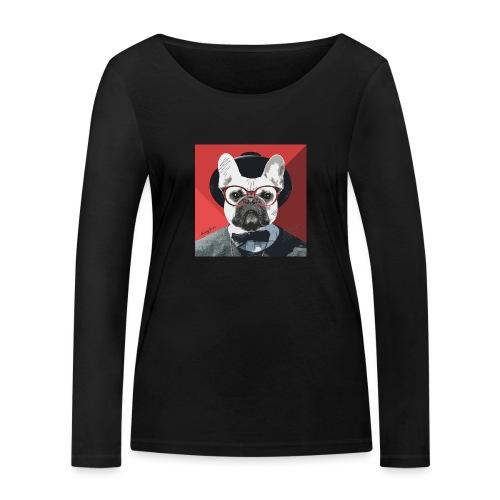 French Bulldog Artwork 2 - Frauen Bio-Langarmshirt von Stanley & Stella