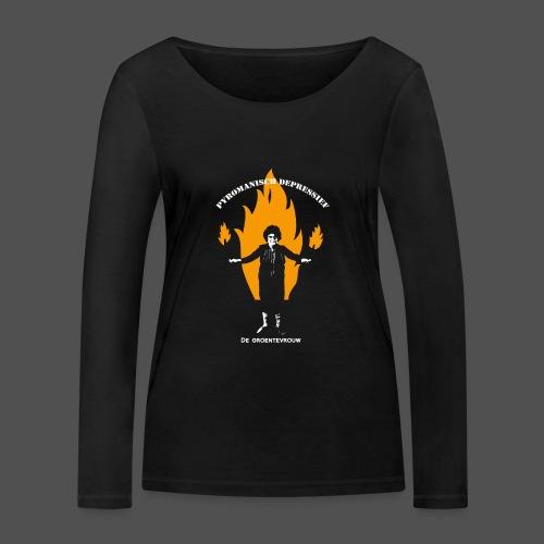 Pyromanisch Depressief (v) - Vrouwen bio shirt met lange mouwen van Stanley & Stella