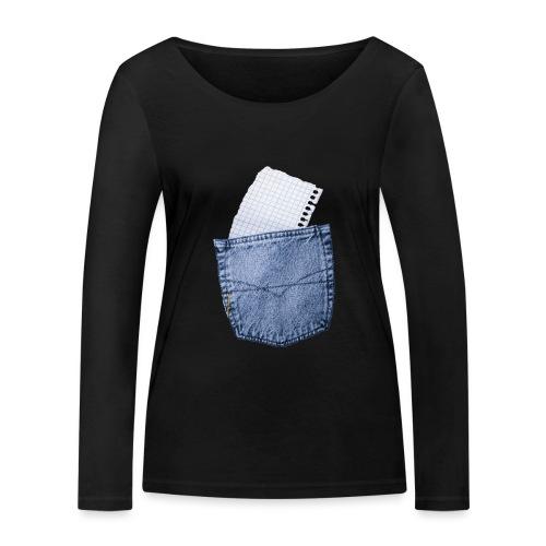 Jeans Baggy by #OneCreativeArts - Frauen Bio-Langarmshirt von Stanley & Stella