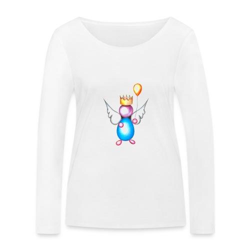 Mettalic Angel happiness - T-shirt manches longues bio Stanley & Stella Femme