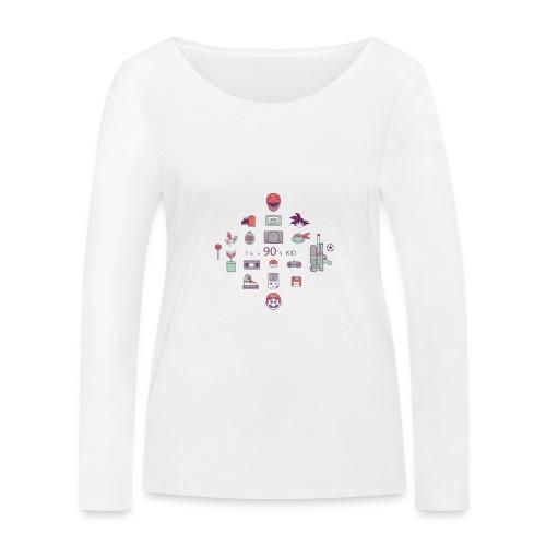 lo mejor de los 90 - Camiseta de manga larga ecológica mujer de Stanley & Stella