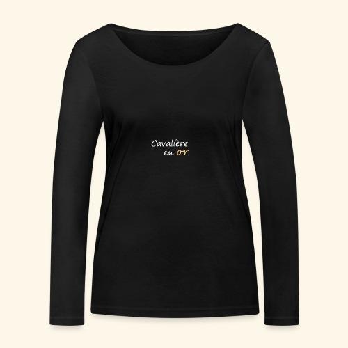 Cavalière en or - T-shirt manches longues bio Stanley & Stella Femme
