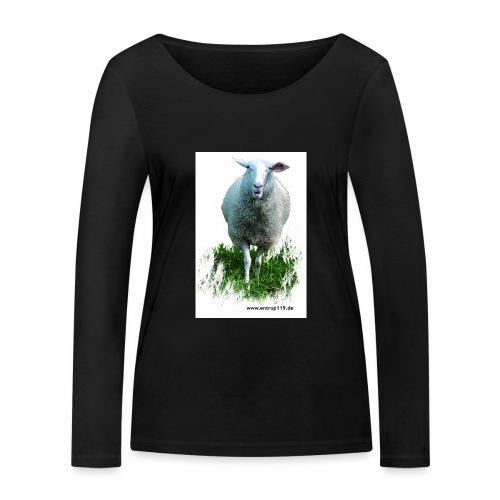 Gemaltes Entrup Schaf - Frauen Bio-Langarmshirt von Stanley & Stella