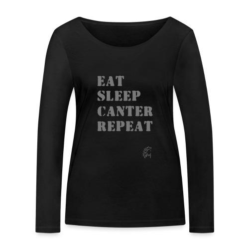 Eat Sleep Canter Repeat - Pferd Reiten VECTOR - Frauen Bio-Langarmshirt von Stanley & Stella
